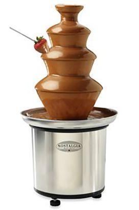 aa29bdde20f Nostalgia Electrics 3-Tier Stainless Chocolate Fondue Fountain